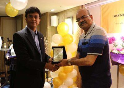 22. Token of appreciation to Dr Niraj (faculty since 2012)